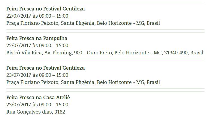 Próximas Feiras Home FeiraFresca.com.br