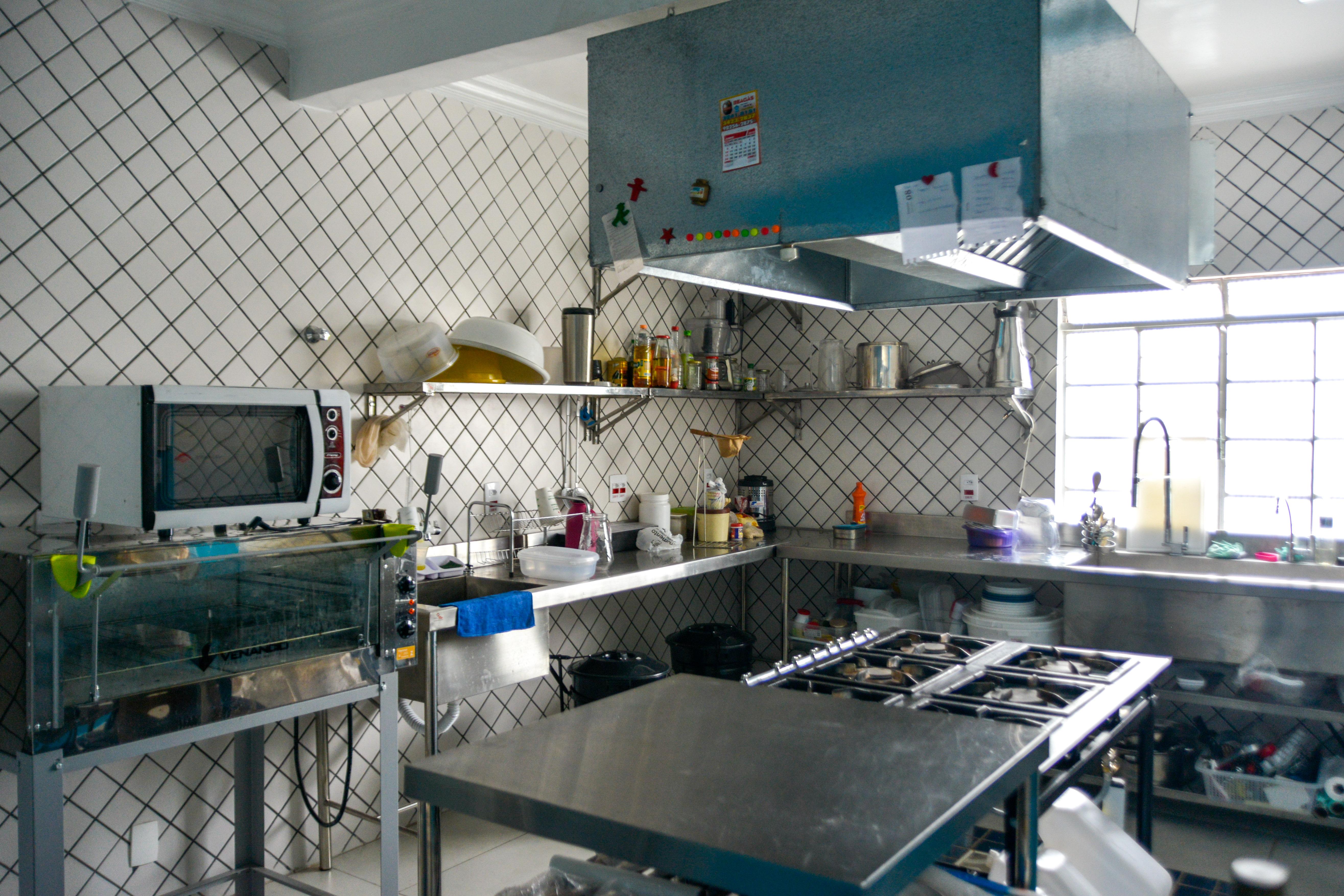 Cozinha Café Mina na Casa Fresca