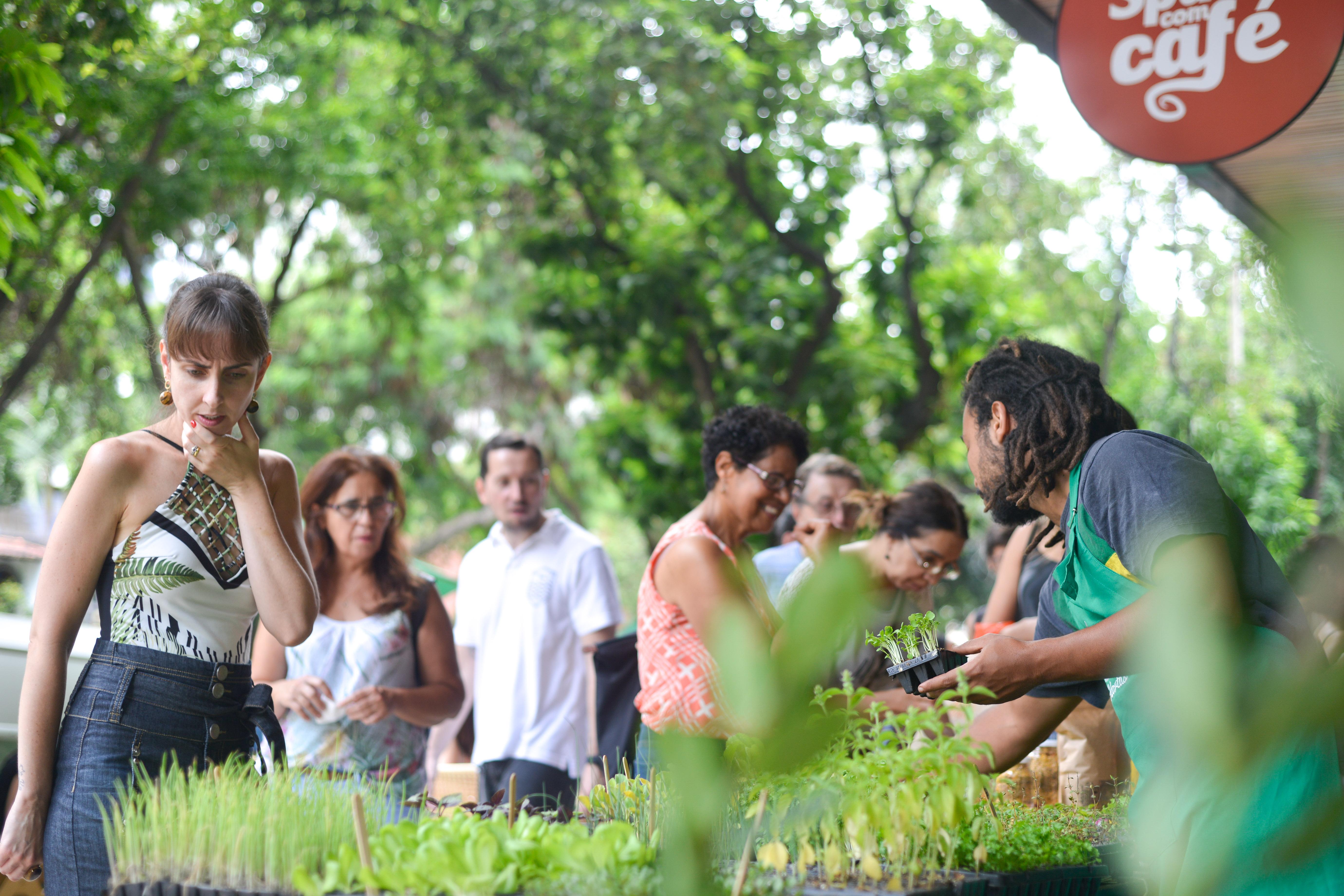 Fábrica de Hortas na Feira Fresca do Spiral com Café