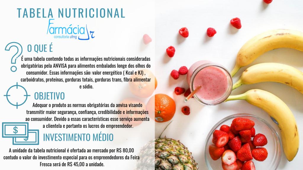 1 - Tabela Nutricional